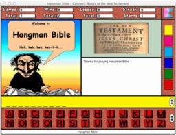 A reduced screenshot of Hangman Bible for the Macintosh